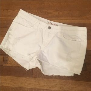 J Brand Distressed White Shorts - Size 29